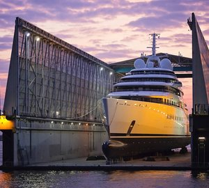 180m Project AZZAM Yacht launched by LURSSEN