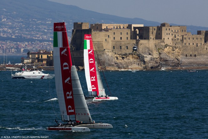 America's Cup World Series Naples 2013 - Race Day 3 - Luna Rossa Piranha and Luna Rossa Swordfish