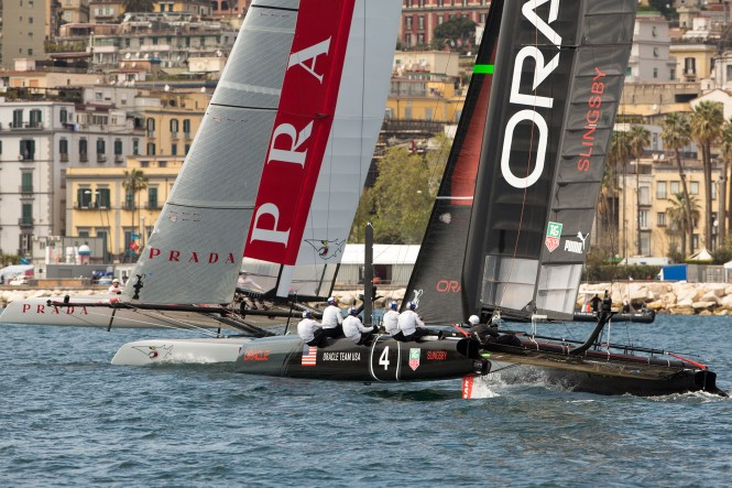 America's Cup World Series Naples 2013 - Final Race Day - Luna Rossa and ORACLE TEAM USA