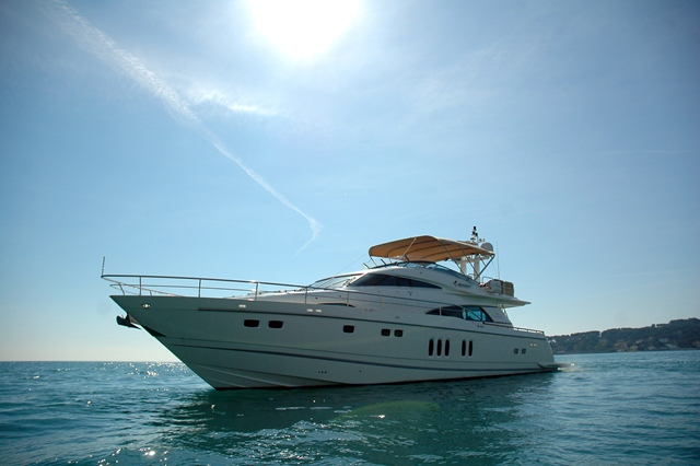 Luxury charter yacht D5 built by Fairline Boats