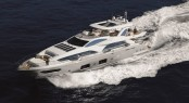 Luxury motor yacht Azimut Grande 100 at full speed