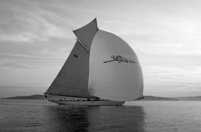 Luxury sailing yacht Moonbeam of Fife (ex Moonbeam III) designed by William Fife - Image courtesy of Fife Regatta