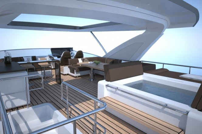 Luxury yacht Azimut 80 - Exterior