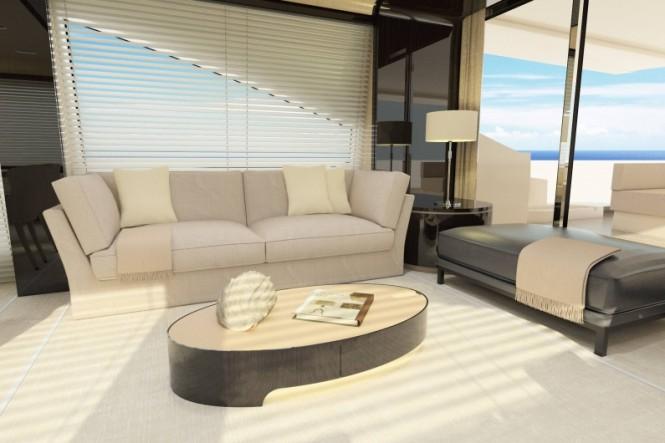 Luxury yacht Azimut 80 - Salon