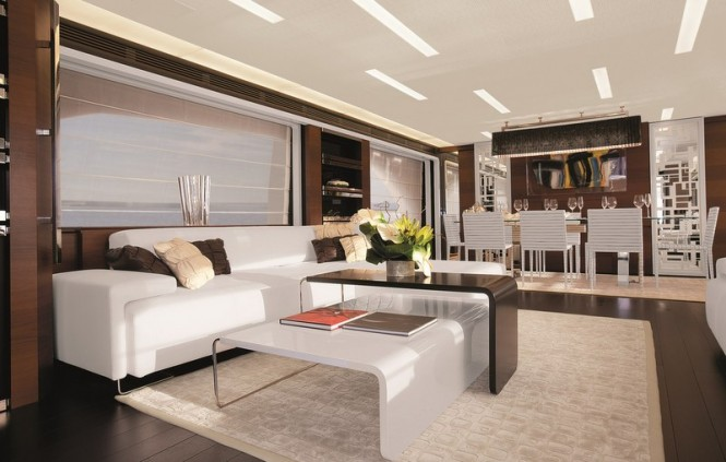Luxury yacht Azimut Grande 100 - Saloon