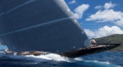Luxury yacht Hanuman with mast by Rondal competing in St Barths Bucket 2013