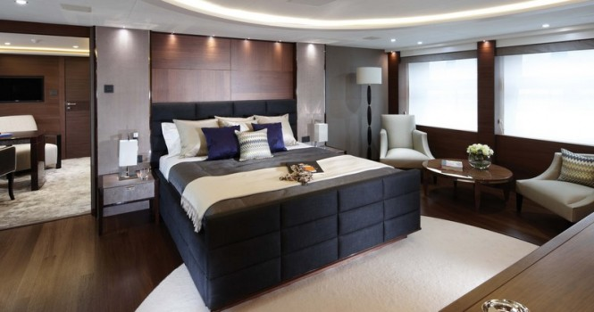Luxury yacht Imperial Princess - Owners Suite