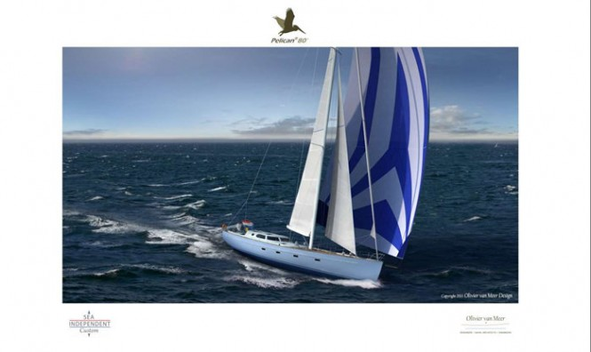 Luxury yacht Pelican 80 concept