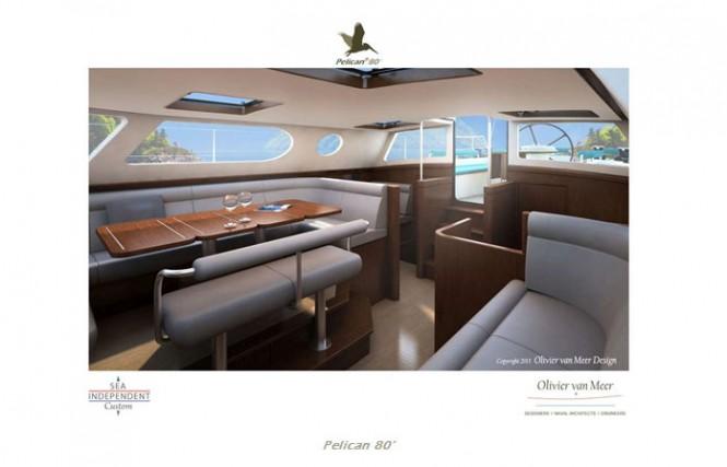 Luxury yacht Pelican 80 concept - Interior