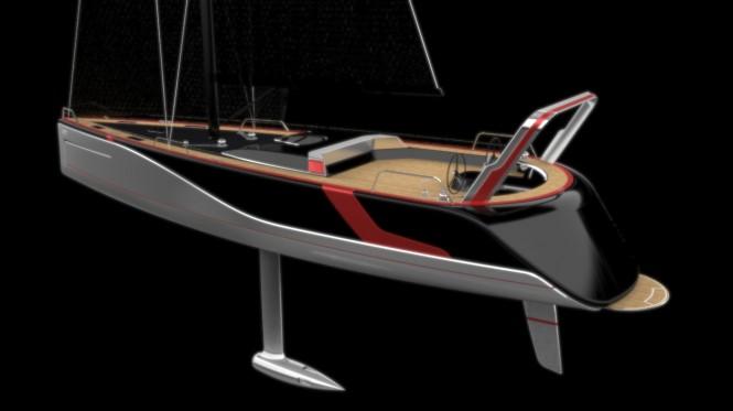 Luxury yacht Poseidon concept