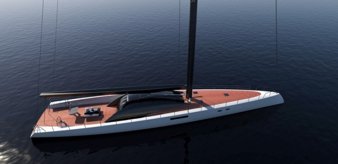 Luxury yacht Project Immersion - view from above