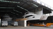 Luxury yachts at Horizon Shipyard