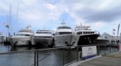 Luxury yachts by Horizon on display at Palm Beach Boat Show 2013