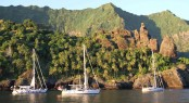 Luxury yachts by Oyster in the beautiful yacht charter destination - the French Polynesia