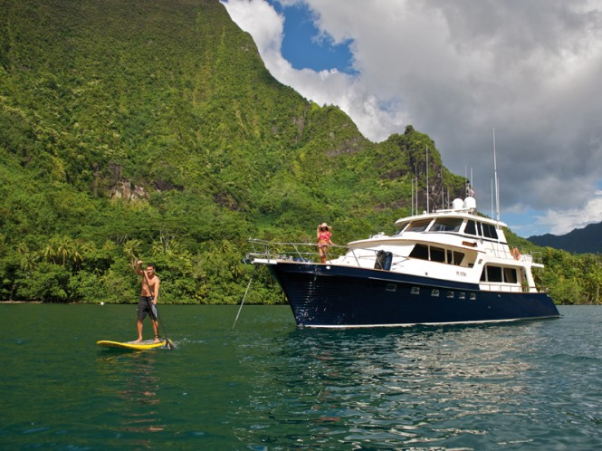 Miss Kulani yacht in Tahiti - Photo by Tim McKenna Photography
