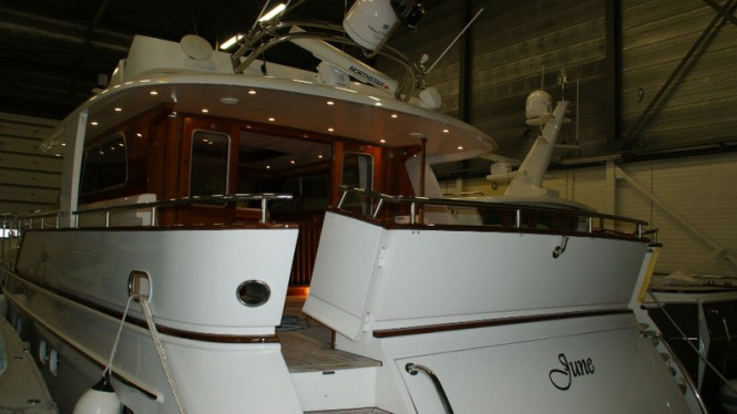 Mulder 70 Wheelhouse Yacht JUNE at new Mulder shipyard