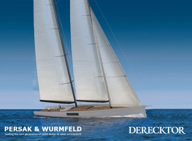 New 44m Persak and Wurmfeld Sailing Yacht Concept for Derecktor Shipyards