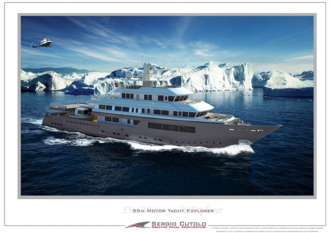 New 57m Explorer Yacht Design by Sergio Cutolo of Hydro Tec