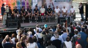 America's Cup World Series Naples 2013 - The public meet the skippers