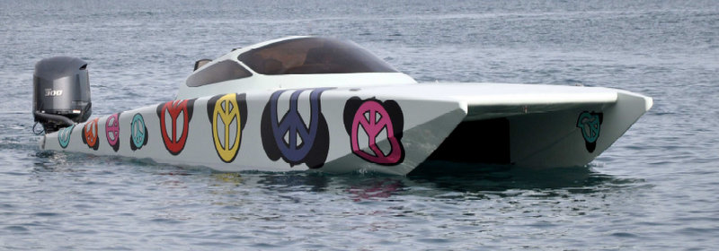 Peace & Toons mega yacht tender by Spire Boat and Thierry Trives