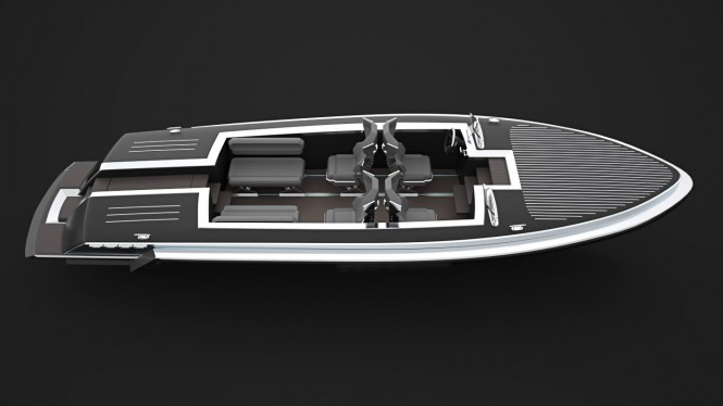 Pinstripe superyacht tender concept