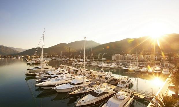 Porto Montenegro Marina situated in the beautiful Mediterranean yacht charter destination - Montenegro
