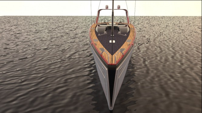 Poseidon yacht concept - front view