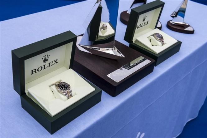 Prize Table at La Canzone del Mare - Photo by Rolex/Kurt Arrigo