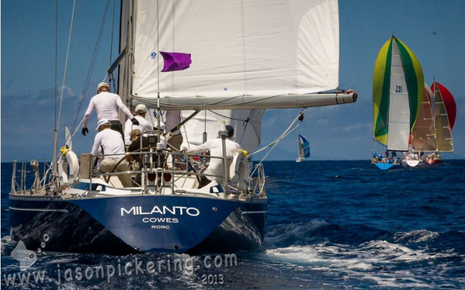 Racing at Antigua Sailing Week 2013
