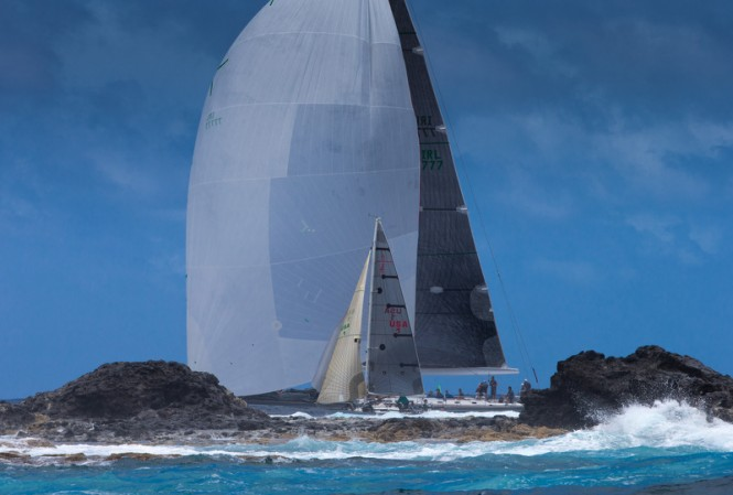 Racing at Les Voiles de Saint Barth on Day 1