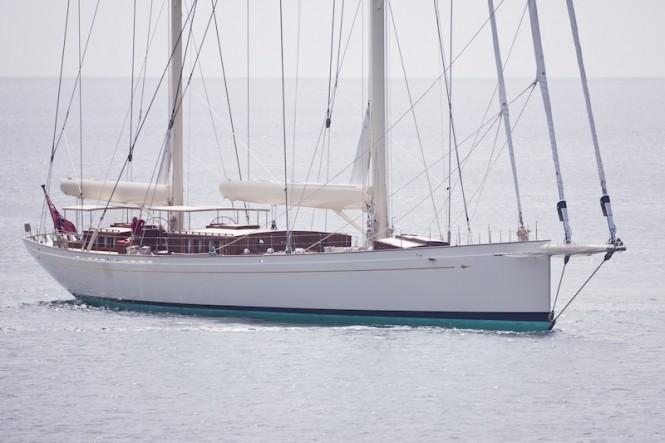 Royal Huisman Yacht Kamaxitha - Photo by Cory Silken