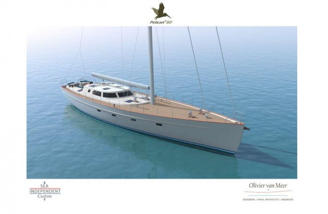 Sailing yacht Pelican 80 concept - front view