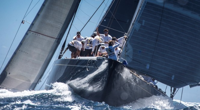 St Barths Bucket Regatta Day 2: Superyacht Hanuman Photo: Carlo Borlenghi