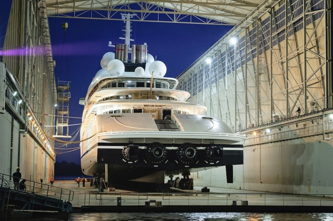 Superyacht AZZAM launched by Lurssen ©Klaus Jordan