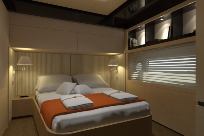 Superyacht Azimut 80 - Guest Cabin