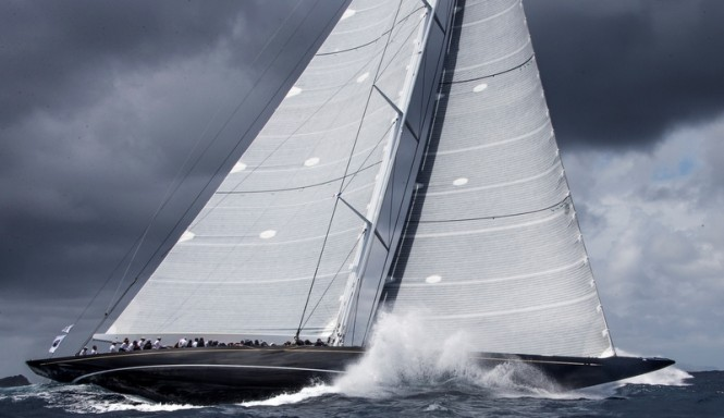 St Barths Bucket Regatta Day 4: J CLASS Yacht Hanuman Photo: Carlo Borlenghi
