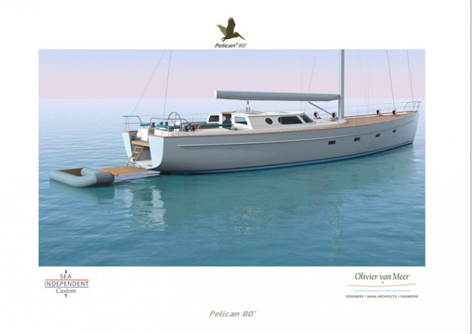 Superyacht Pelican 80 concept - aft view