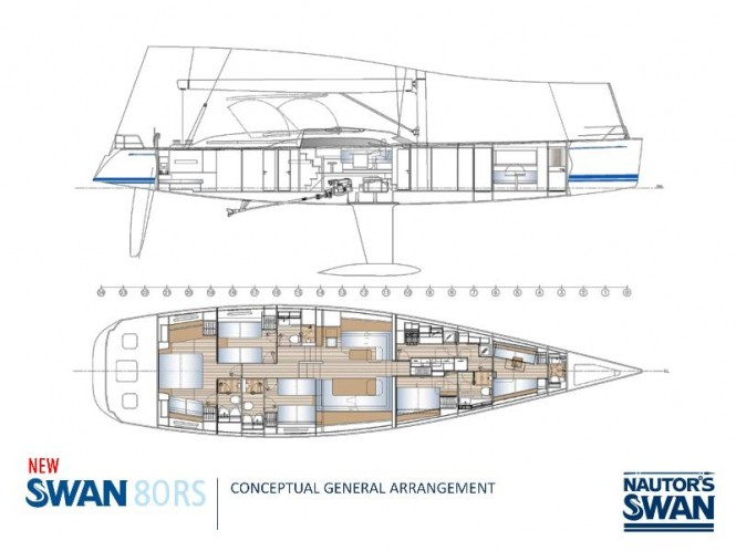 Superyacht Swan 80RS - Layout
