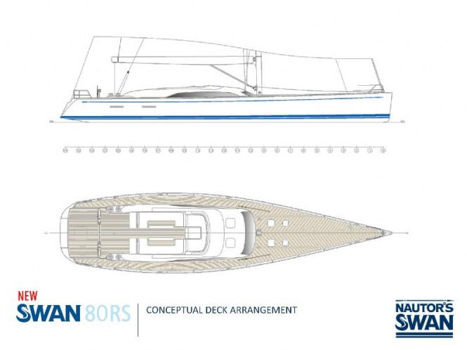 Swan 80RS Yacht - Layout