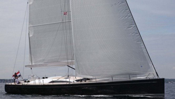 Swan 80S superyacht I AMSTERDAM Sailing Upwind  Photo Credit Per Heegaard