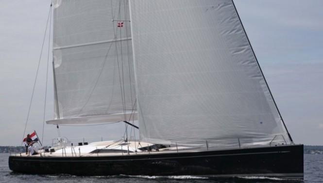 Swan 80S superyacht I AMSTERDAM Sailing Upwind  Photo Credit Per Heegaard