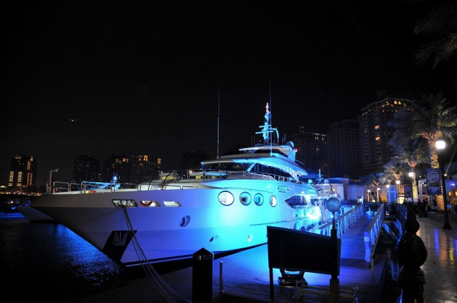 The premiere  of the Majesty 125 Yacht in Qatar