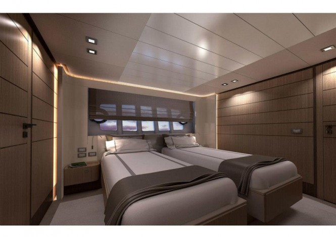 Twin cabin- superyacht Ferretti 960