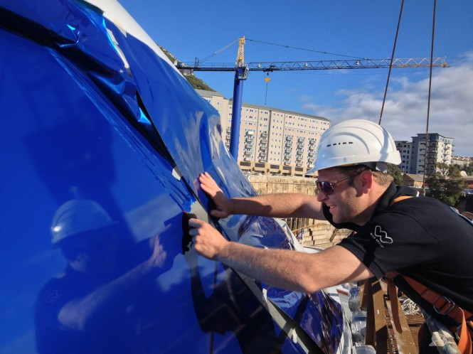 Wild Group working on Lady Moura superyacht's make over
