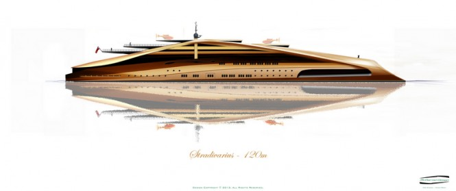 120m superyacht Stradivarius concept