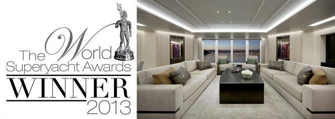 World Superyacht Award 2013 for luxury yacht Mogambo