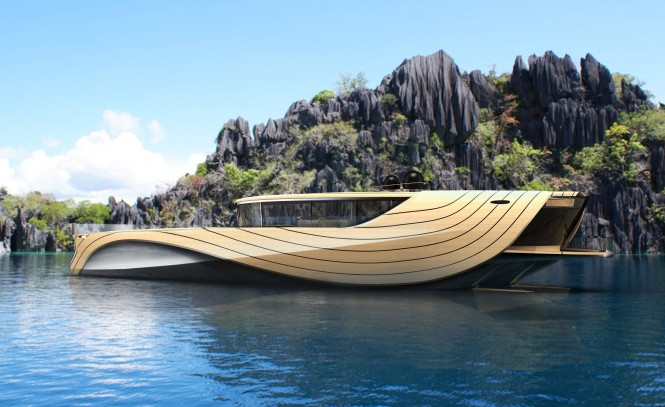 32m motor yacht Cronos concept by Madella and Berselli