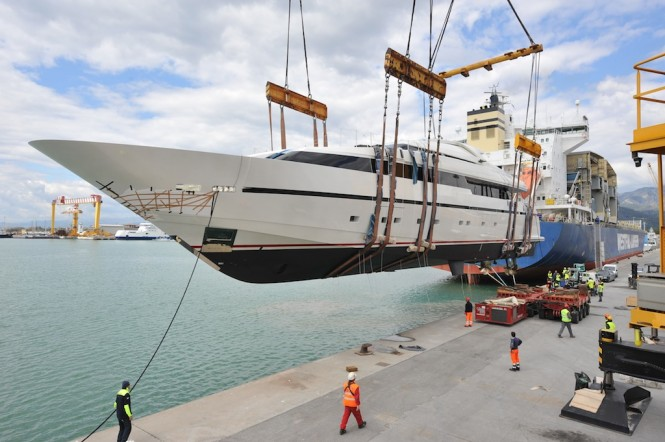 40Alloy motor yacht Liliya launched