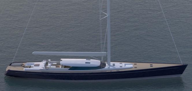 43m Royal Huisman Yacht Blue Papillon