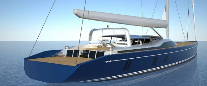 46m Tripp Design superyacht - aft view